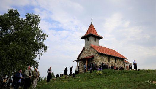 Hramul Mănăstirii Măgura din județul Hunedoara. Ps Andrei a săvârșit Sfânta Liturghie.