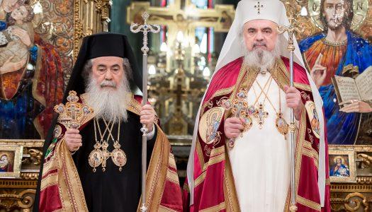 Patriarhul Ierusalimului a sosit la Catedrala Patriarhală din București: Ceremonia de întâmpinare