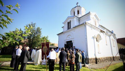 Biserica din Sâncrăieni a fost sfințită. PS Andrei a oficiat Sfânta Liturghie.