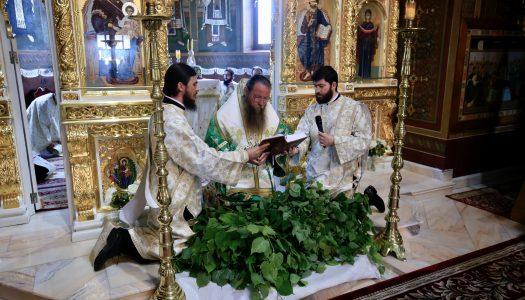 Sărbătoarea Cincizecimii la Catedrala din Miercurea Ciuc.